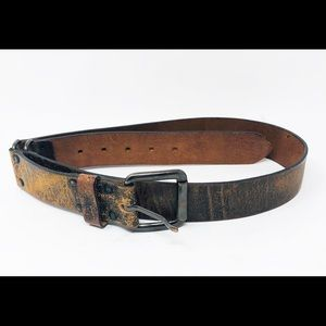 BANANA REPUBLIC Distressed Italian Leather Belt-L